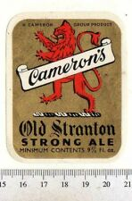 UK Beer Label - Cameron's Brewery - Hartlepool - Old Stranton Strong Ale