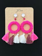 J Crew Stone and Tassel Earrings! Sold Out!Nwt New$58 neon primrose AUTHENTIC!💕