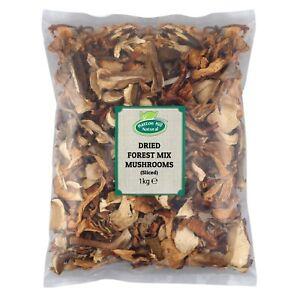 Dried Sliced Forest Mix Mushrooms (Porcini, Chanterelle & Black Mushrooms)