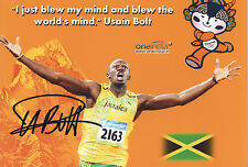 USAIN BOLT Signed 12X8 Photo WORLD CHAMPION SPRINTER  Athletics  COA