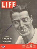 Joe DiMaggio Signed 1949 LIFE Magazine Cover PSA/DNA COA Yankees Baseball Auto'd