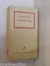 I MALAVOGLIA Giovanni Verga Mondadori BMM 288 1960 libro romanzo narrativa di