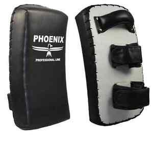 Phönix- Thai Short Pads gekrümmt, paarweise schwarz-weiß. Muay Thai. Kickboxen.