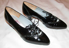 PHYLLIS POLAND patent leather granny Victorian style steampunk goth shoes 6 M