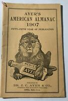 USED ANTIQUE ALMANAC BLOWOUT: Ayer's American Almanac  1907  RARE