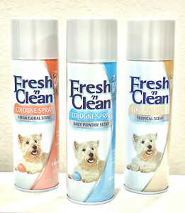 Fresh n Clean Cologne Spray Baby Powder Tropical or Floral Spray 12 oz ~ New!