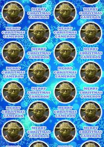 YODA STAR WARS Personalised Christmas Gift Wrap - Yoda Wrapping Paper