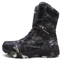 Men Camouflage Army Boots Waterproof Canvas Combat Anti-collision Military Shoes