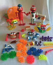 KID K'NEX ELMO Sesame Street 145pc Lot Pets Animals Doctor Vet