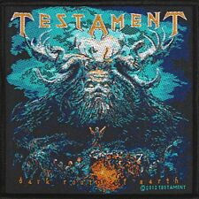 TESTAMENT official woven Patch  DARK ROOTS OF EARTH  Aufnäher  U.S. Thrashmetal