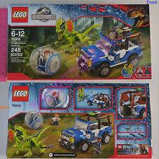New LEGO Jurassic World Dilophosaurus Ambush 248 Pcs Set 75916 - Gray