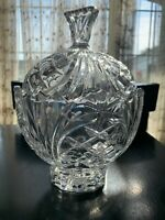 "Lead Crystal Lidded Bowl With Lid 9"" X 6"""