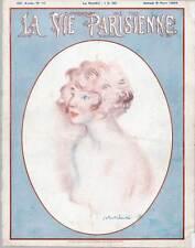 """Art DECO-érotique-acte-Nude - pression de """"la vie parisienne"""", 1924"""