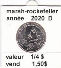 pièces de 1/4 $  marsh-rockefellerde 2020 D