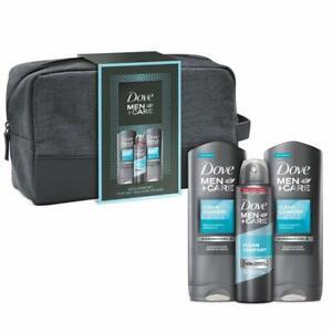 Dove Men+Care Geschenkset Duschgel Shampoo Deo Deospray inkl Kulturtasche Beutel