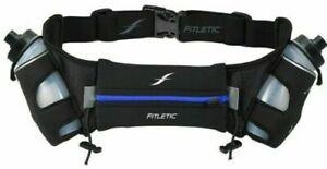 Running Hydration Belt - Fitletic Jogging Bum Bag Bottle Gel Phone Holder - Blue