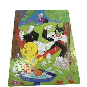 Rare Vintage Looney Tunes 1974 Whitman Sylvester & Tweety 100 pc Puzzle Complete