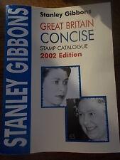 Stanley Gibbons Gran Bretaña Conciso catálogo de sellos en color 2002 edición en muy buena condición