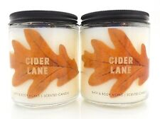 2 BATH & BODY WORKS CIDER LANE SCENTED 1 WICK 7oz CANDLE NEW!