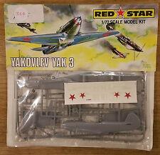 Yakovlev Yak 3 RED STAR 1/72 RETRO model aircraft kit SEALED BAG #364