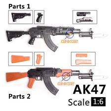 "1:6 1/6 Scale 12"" Action Figures Weapon AK47 Assault Rifle Tactical Gun Toy"