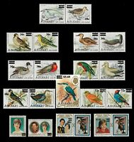 Aitutaki 1983 Surcharges Series of 19 Stamps Birds & Royal Wedding SG447/65 10-8