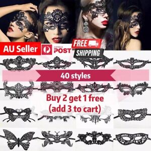 Sexy Black Lace eye mask Ladies Masquerade Ball Costume Party Fancy Helloween