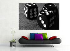 BLACK & WHITE DADI numeri 3d Effetto Finestra Vista Adesivo Muro Poster Vinile 350