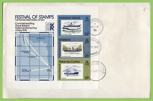 Ascension 1976 Ascension 1976 Festival of Stamps, tri cancel First Day Cover