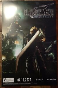 """PAX East 2020 Final Fantasy VII Double Sided Poster 17x11"""" Square Enix"""
