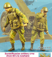 1/35 Resin Russian Artillery Crew 2 Soldiers unpainted unassembled 1679