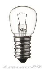 Glühlampe 12V 15W E14 22x48mm klar Glühbirne Lampe Birne 12Volt 15Watt neu