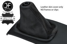 BLACK & BLACK STRIPE TOP GRAIN LEATHER MANUAL GEAR GAITER FOR AUDI A6 C5 98-04
