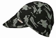 Comeaux Caps Welder Welding Hat  Black mud flap SILHOUETTE Black SIZE 7 1/4
