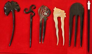 schöne Haarnadel aus Perlmutt, Horn und Knochen, div Formen, feinste Handarbeit