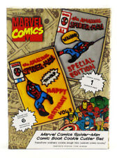 Williams Sonoma Marvel Spider-Man Comic Book Cookie Cutter Set Brand New In Box
