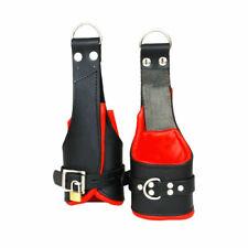100% Genuine Heavy Leather Padded Wrist Suspension Cuffs Restraint Lockable.