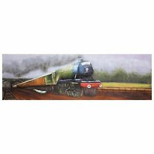 FLYING SCOTSMAN TRAIN 3D Wall Art Hand Painted Metal Artwork Picture Painting
