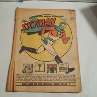 SKYMAN #1 (COLUMBIA, 1941) - Coverless Golden Age - The Face