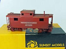 Sunset Models 2-Rail O Scale Brass Pennsylvania Caboose #4774 - Custom Decorated
