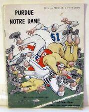 Notre Dame-Purdue Football Program 1954  Fair Condition