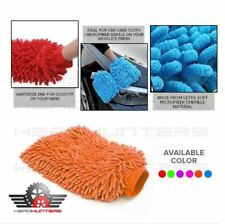 Microfiber Double Sided Car Exterior and Interior Cleaning Cloth Gloves - ORANGE