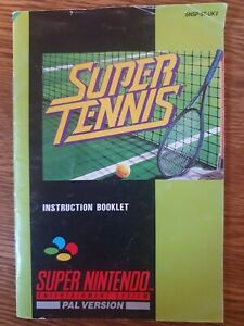 Super Tennis. Super Nintendo. SNES. INSTRUCTION BOOK ONLY
