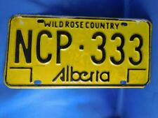 ALBERTA LICENSE PLATE WILD ROSE COUNTRY NCP 333 VINTAGE CANADA SHOP GARAGE SIGN