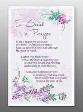 I Said A Prayer Glass Plaque - Sentiments Product Range -  Holy Religious Gift