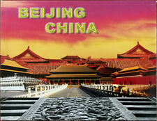 More details for beijing china tourist souvenir photograph book in card sleeve