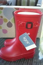 New Box Igor Piter Rain Boots Rojo Red Baby Toddler EUR 23 US 7 T Spain Shoes