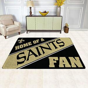 New Orleans Saints Home Of A Fans Area Rug Modern Room Carpet Flannel Floor Mat