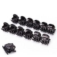 Fashion 12x Women Black Plastic Mini Hairpin 6 Claws Hair Clip Hairclip Clamps