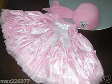 New Halloween tutu pettiskirt Pirate stripes pink skirt hat costume 8-10 yrs ⭐